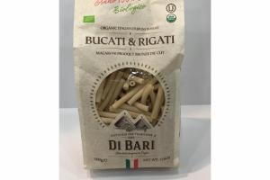 BUCATI & RIGATI ORGANIC ITALAIN DURUM WHEAT MACARONI PRODUCT BRONZE DIE CUT