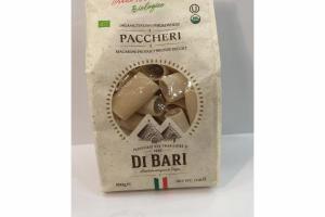 PACCHERI ORGANIC ITALIAN DURUM WHEAT MACARONI PRODUCT BRONZE DIE CUT