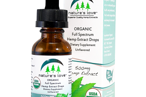 UNFLAVORED ORGANIC FULL SPECTRUM HEMP EXTRACT DROPS DIETARY SUPPLEMENT