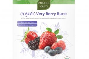 INDIVIDUALLY QUICK FROZEN ORGANIC WHOLE STRAWBERRIES, CULTIVATED BLUEBERRIES, BLACKBERRIES & RASPBERRIES