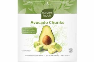 INDIVIDUALLY QUICK FROZEN AVOCADO CHUNKS