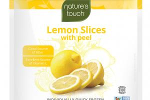 INDIVIDUALLY QUICK FROZEN LEMON SLICES WITH PEEL