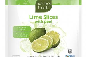 INDIVIDUALLY QUICK FROZEN LIME SLICES WITH PEEL