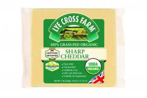 100% GRASS-FED ORGANIC SHARP CHEDDAR