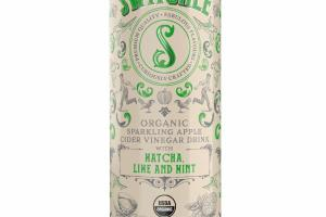 ORGANIC SPARKLING APPLE CIDER VINEGAR DRINK WITH MATCHA, LIME AND MINT