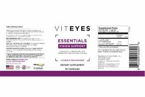 LUTEIN & ZEAXANTHIN ESSENTIALS VISION SUPPORT CAPSULES DIETARY SUPPLEMENT