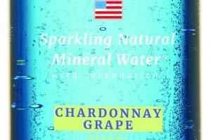 CHARDONNAY GRAPE SPARKLING NATURAL MINERAL WATER