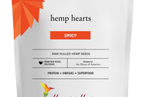 SPICY HEMP HEARTS RAW HULLED HEMP SEEDS