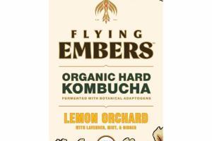 LEMON ORCHARD WITH LAVENDER, MINT, & GINGER ORGANIC HARD KOMBUCHA