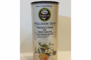 ORGANICS CHAMOMILE & ORANGE WITH CEYLON WELLNESS GREEN TEA