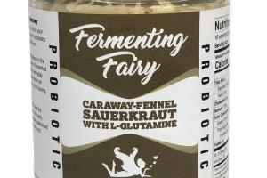 PROBIOTIC CARAWAY-FENNEL SAUERKRAUT WITH L-GLUTAMINE