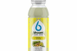 100% NATURAL SUGARCANE JUICE DRINK, LEMON + GINGER