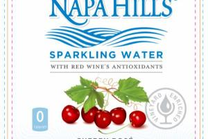 CHERRY ROSE SPARKLING WATER WITH RED WINE'S ANTIOXIDANTS