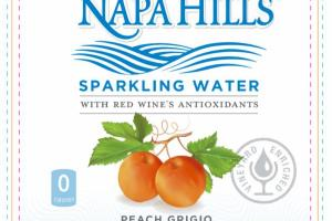 PEACH GRIGIO SPARKLING WATER WITH RED WINE'S ANTIOXIDANTS