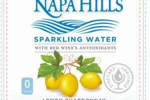 LEMON CHARDONNAY SPARKLING WATER WITH RED WINE'S ANTIOXIDANTS