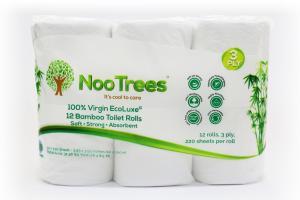 100% VIRGIN ECOLUXE 12 BAMBOO TOILET ROLLS