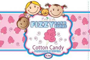 FIZZY BATH BOMBS, COTTON CANDY