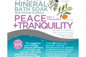 MINERAL BATH SOAK, PEACE + TRANQUILITY