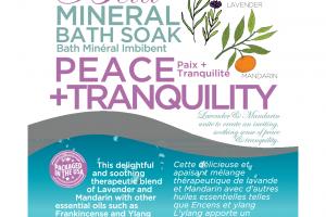 MINERAL BATH SOAK, PEACE + TRANQUILITY