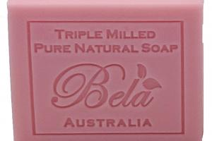 TRIPLE MILLED ROSE PURE NATURAL SOAP WITH ORGANIC SHEA BUTTER