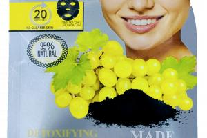 DETOXIFYING FACIAL MASK, CHARCOAL + GRAPE SEED
