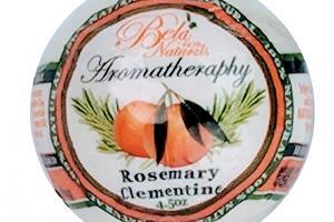 100% NATURALS AROMATHERAPHY BATH BOMB, ROSEMARY CLEMENTINE