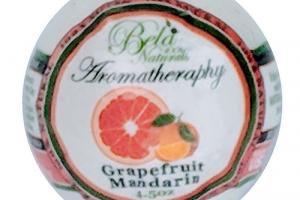 100% NATURALS AROMATHERAPY BATH BOMB, GRAPEFRUIT MANDARIN