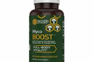 FULL-BODY VITALITY WITH ORGANIC CORDYCEPS MUSHROOM & YERBA MATE DIETARY SUPPLEMENT VEGETARIAN CAPSULES
