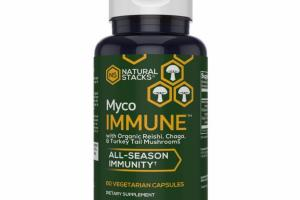 ALL-SEASON IMMUNITY WITH ORGANIC REISHI, CHAGA, & TURKEY TAIL MUSHROOMS DIETARY SUPPLEMENT VEGETARIAN CAPSULES