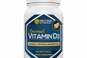COCONUT VITAMIN D3 DIETARY SUPPLEMENT SOFTGELS