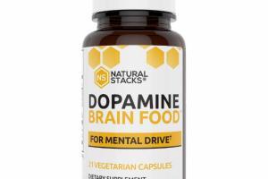 DOPAMINE BRAIN FOOD FOR MENTAL DRIVE DIETARY SUPPLEMENT VEGETARIAN CAPSULES