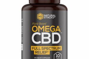 PLANT-BASED OMEGA CBD FULL SPECTRUM RELIEF LIQUID CAPSULES DIETARY SUPPLEMENT
