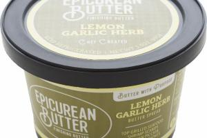 LEMON GARLIC HERB BUTTER SPREAD