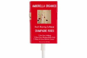 CHAMPAGNE ROSES SEED-BEARING LOLLIPOP