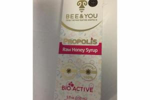 PROPOLIS RAW HONEY SYRUP BIO ACTIVE DIETARY SUPPLEMENT