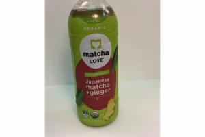 ORGANIC UNSWEETENED JAPANESE MATCHA + GINGER GREEN TEA
