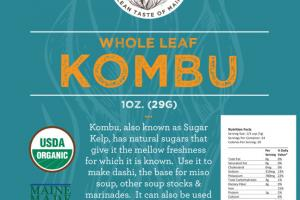 WHOLE LEAF KOMBU