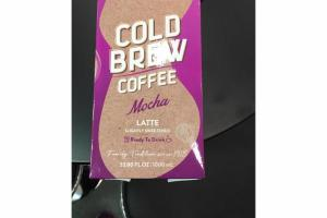 MOCHA LATTE SLIGHTLY SWEETENED COLD BREW COFFEE