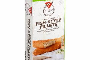 FISH-STYLE FILLETS COATED IN A GOLDEN CRISPY BATTER WITH ADDED FLAXSEED OIL