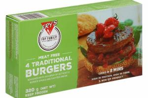 MEAT FREE 4 TRADITIONAL BURGERS