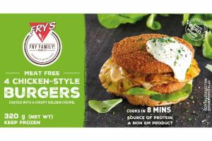 MEAT FREE CHICKEN-STYLE BURGERS