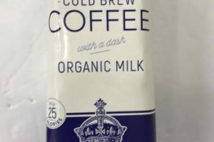 COLD BREW COFFEE WITH A DASH ORGANIC MILK