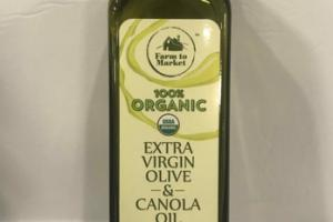 100% ORGANIC EXTRA VIRGIN OLIVE & CANOLA OIL