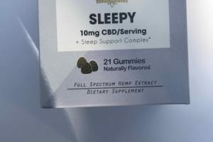 SLEEPY FULL SPECTRUM HEMP EXTRACT DIETARY SUPPLEMENT GUMMIES