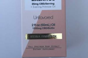 BALANCE 25MG CBD/SERVING + EVENING PRIMOSE OIL DIETARY SUPPLEMENT, UNFLAVORED