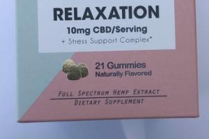 RELAXATION 10MG CBD + STRESS SUPPORT COMPLEX DIETARY SUPPLEMENT GUMMIES