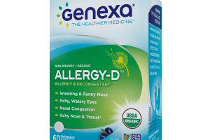 HOMEOPATHIC ALLERGY & DECONGESTANT CHEWABLE TABLETS, ACAI BERRY FLAVOR
