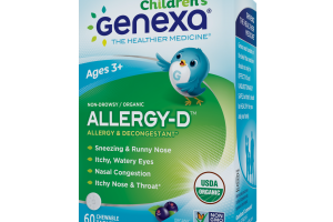 NON-DROWSY / ORGANIC ALLERGY & DECONGESTANT HOMEOPATHIC CHEWABLE TABLETS, ACAI BERRY FLAVOR