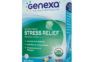 HOMEOPATHIC ORGANIC STRESS & FATIGUE FORMULA CHEWABLE TABLETS, VANILLA LAVENDER FLAVOR