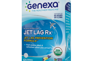 HOMEOPATHIC JET LAG PREVENTION FORMULA CHEWABLE TABLETS, VANILLA LAVENDER FLAVOR